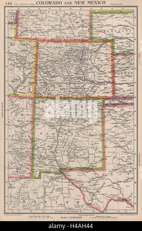 Old Map Of New Mexico State S Stock Photo Royalty Free - Usa statemap