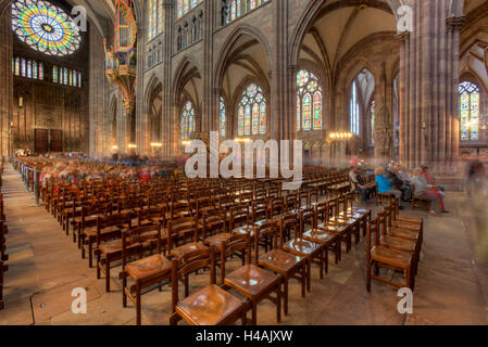 Strasbourg cathedral, Cathedral of Our Lady of Strasbourg , Cathédrale Notre-Dame, cathedral, Strasbourg, Bas-Rhin, - Stock Photo