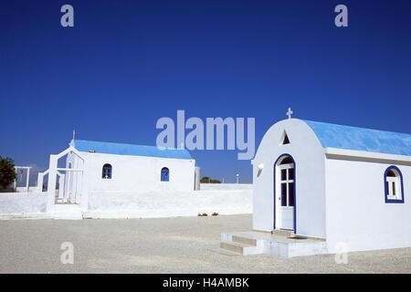 Greece, Dodekanes, island Fondling, agio Theologos, church, island group, Mediterranean island, the Aegean Sea, - Stock Photo