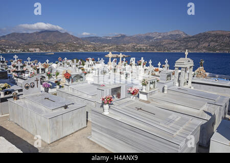 Greece, Karpathos, cemetery of Pigadia, - Stock Photo