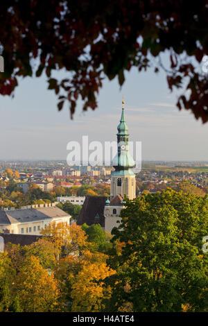 parish church, Kurpark, Beethoven's temple, bathing near Vienna, Lower Austria, Austria - Stock Photo