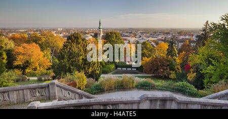 parish church, Kurpark, Beethoven's temple, Baden near Vienna, Lower Austria, Austria - Stock Photo