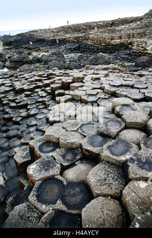 Giants Causeway, County Antrim, Northern Ireland - Stock Photo