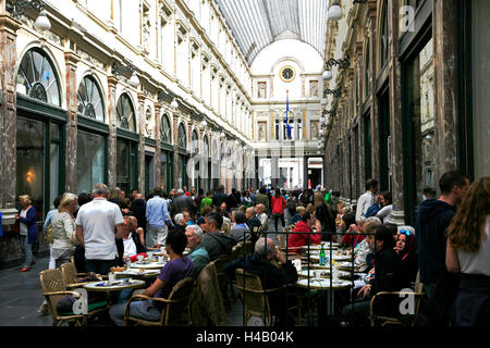 Belgium, Brussels capital, Brussels, Galeries Royales Saint Hubert, - Stock Photo