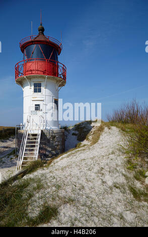 Lighthouse on the Gellen, island Hiddensee, Western Pomerania Lagoon Area National Park, Mecklenburg-Western Pomerania - Stock Photo