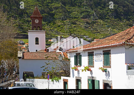 Madeira, parish church Nossa Senhora da Conceicao in Machico - Stock Photo