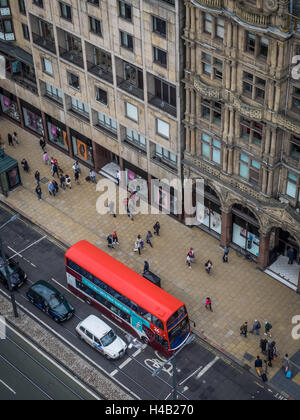 Edinburgh, Scotland -  31 August 2016 : Modern double deck bus operated by Lothian busses in the centre of Edinburgh, - Stock Photo