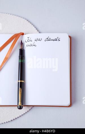 Diary, memories, secrets, - Stock Photo