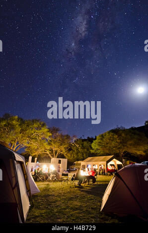 Africa, Tanzania, East Africa, Serengeti, lodge, Lobo Wildlife Lodge, tent camp, camp site, - Stock Photo