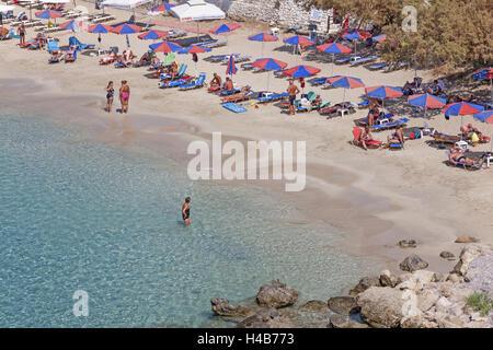 Greece, Karpathos, Lefkos, bathing bay, - Stock Photo