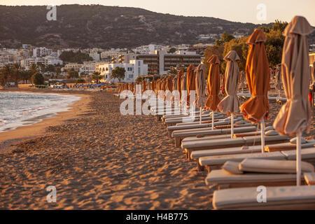 Greece, Karpathos, Pigadia, beach in the morning light, - Stock Photo