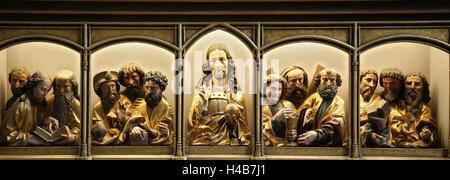 Europe, France, Alsace, Colmar, museum, Unterlinden, Isenheim Altar, - Stock Photo
