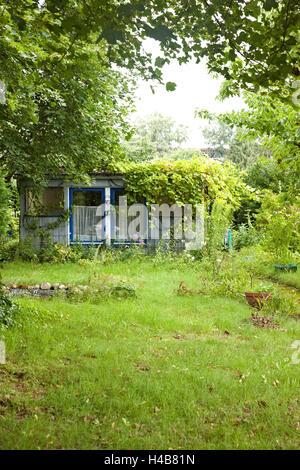 Summer house, garden, green, grass,