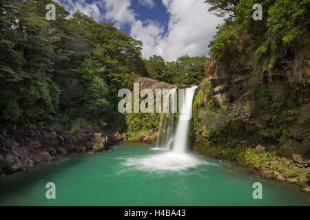 Tawhai Falls, Tongariro National Park, Manawatu-Manganui, north Island, New Zealand - Stock Photo