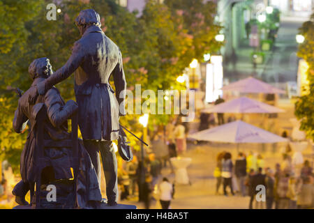 Lanner and Strauss of statue, wine festival, health resort park, bathing near Vienna, Lower Austria, Austria - Stock Photo
