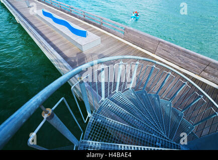 Detailed view of the pier in Heiligenhafen, the Baltic Sea - Stock Photo
