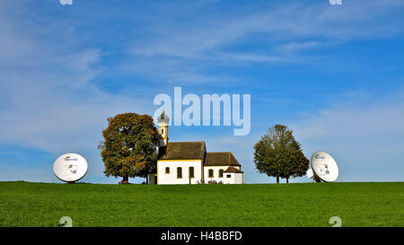 Germany, Upper Bavaria, Raisting - Stock Photo