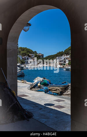 Bay of Cala Figuera in Majorca - Stock Photo
