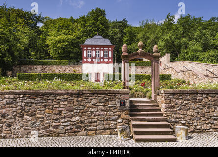 Germany, Hessen, the Rhinegau, Eltville on the Rhine, cloister Eberbach, prelate's garden, - Stock Photo