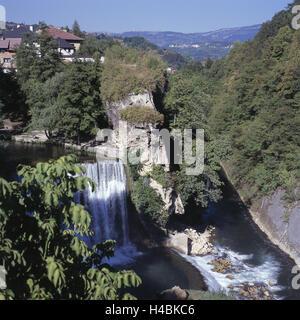 Bosnia-Herzegovina, Jajce, Pliva, waterfall, Vrbas Canyon, - Stock Photo