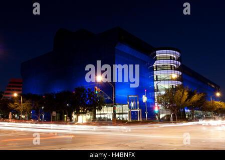 Night Photography: Pacific Design Center, Los Angeles, California - Stock Photo