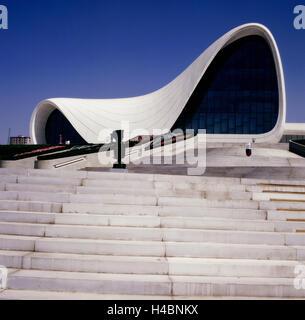 Heydar Aliyev Cultural Center in Baku - Stock Photo