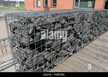 gabion gabions cage cages full of rock rocks stone stones building stock photo 123193258 alamy. Black Bedroom Furniture Sets. Home Design Ideas