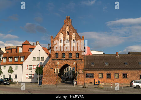 city gate  watergate, Hanseatic City of Wismar, Mecklenburg-Vorpommern, Germany - Stock Photo