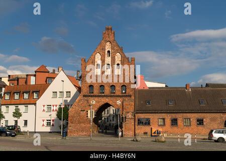 city gate  watergate, Hanseatic City of Wismar, Mecklenburg-Vorpommern, Germany - Stock Photo