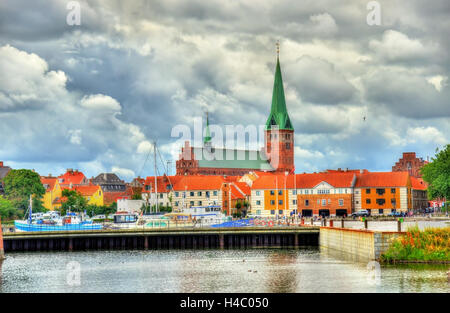 View of Saint Olaf Church in Helsingor - Denmark - Stock Photo