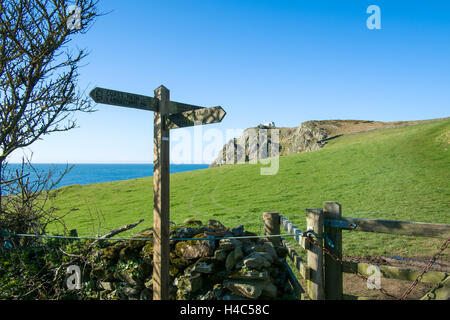 Prawle Point, East Prawle, Devon, the most southerly point in Devon - Stock Photo