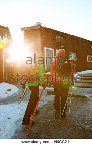Ewa Kirjavainen and Katjana Freshly on the way in the cafe 'Tant Brun', Sigtuna, Sweden, - Stock Photo