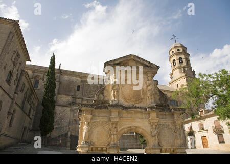 Cathedral of Baeza, Jaen, Andalusia, Spain - Stock Photo
