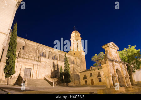 Cathedral of Baeza, Jaén, Andalusia, Spain - Stock Photo