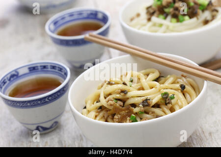 dan dan noodles, chinese sichuan cuisine - Stock Photo