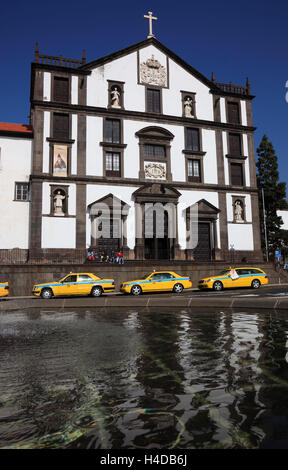 Island Madeira, Funchal, in the city hall square stands the Ingreja Th Colegio Th Jesuitas, former Jesuit's lecture - Stock Photo