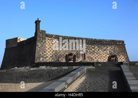 Castillo San Gabriel in Arrecife, Lanzarote, Canary islands, Spain - Stock Photo