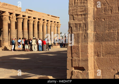Isistempel, Isis temple Philae on the island Agilkia, part the temple plant, Africa, Upper Egypt, - Stock Photo