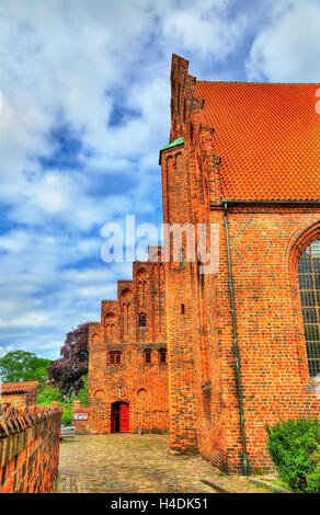 Saint Olaf cathedral in the old town of Helsingor in Denmark - Stock Photo