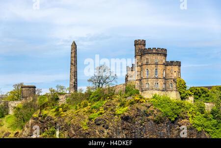The Governor's House on Calton Hill in Edinburgh - Scotland - Stock Photo