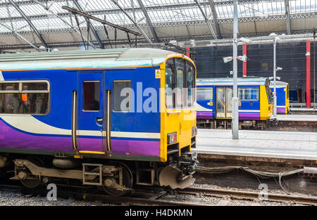 Local trains at Liverpool Lime Street Train Station - England - Stock Photo