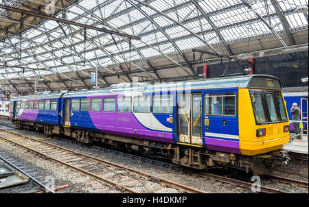 Local train at Liverpool Lime Street Train Station - England - Stock Photo