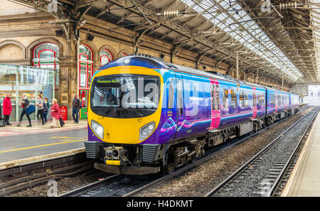 Local train at Preston station - England - Stock Photo