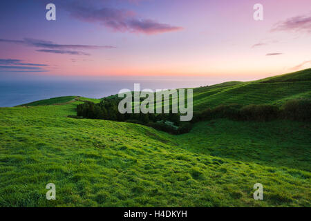View over the Azores island Sao Miguel, the Azores, Portugal - Stock Photo