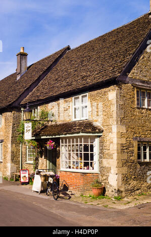 The village Bakery and shop in Lacock Wiltshire UK - Stock Photo