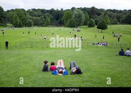 Grounds of Kenwood House, Hampstead Heath, London, England, UK - Stock Photo