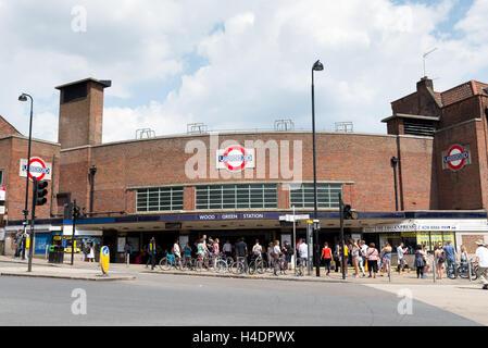 Wood Green underground station, Haringey, North London, England, UK - Stock Photo