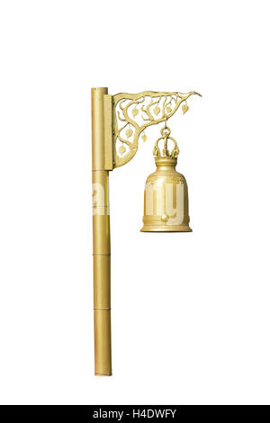 Golden bell.  isolated on white background - Stock Photo