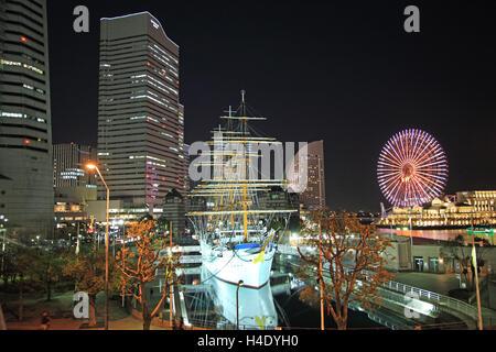Japan, Kanagawa Prefecture, Yokohama, Minatomirai - Stock Photo