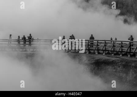Scenes of Geothermal activity, Yellowstone National Park. - Stock Photo
